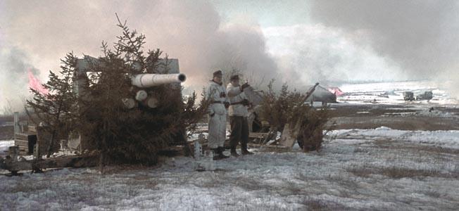 2.WK: Ostfront Sdabschnitt '44: Deutsche Artillerie in der Steppe