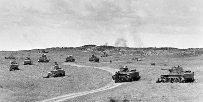 Zhukov massed 450 tanks to drive Japanese forces back beyond the Halha River.