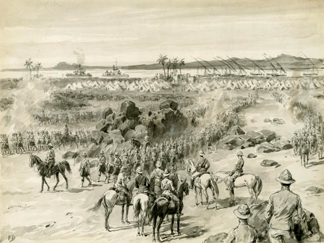 In August 1898, British General H.H. Kitchener reached Omdurman. The stage was set for the last cavalry charge in British military history.