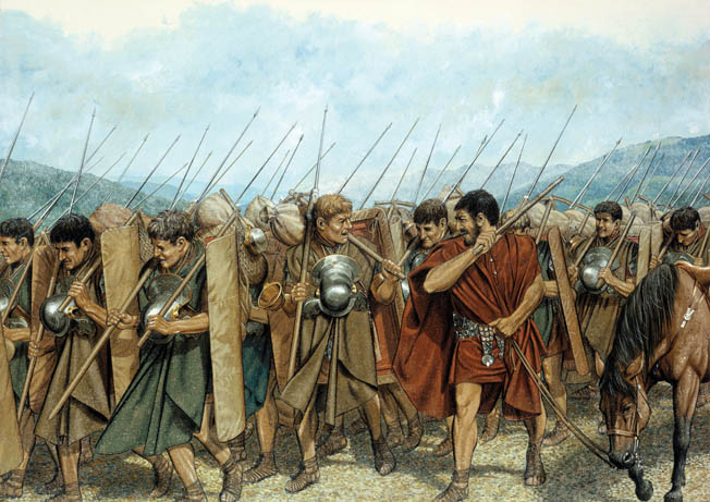 On a plain in central Greece, Caesar and Pompey met on August 9, 48 BC to determine which one of them would assume control of the Roman Republic.
