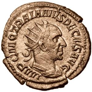 Coin featuring Emperor Decius Trajanus
