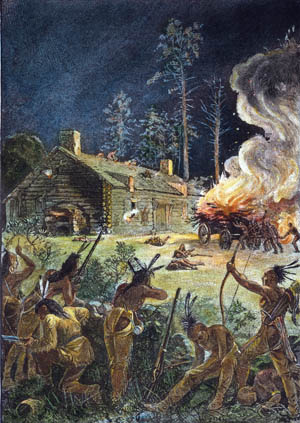 Discontented Indian tribes joined forces in an attempt to drive the Puritans from southern New England in 1675.