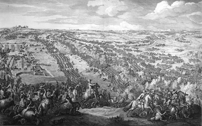 Having marched out in advance of their earthworks, the Russians absorbed the clash of the advancing Swedes.