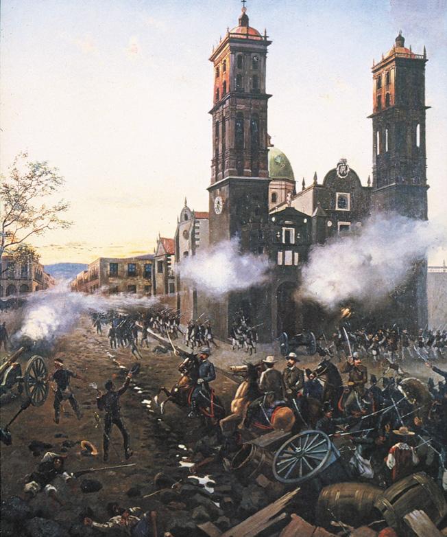 On May 5, 1862, Brig. Gen. Porfirio Diaz leads the elite First Brigade of Oaxaca to victory at Puebla.