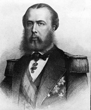 Ill-starred Archduke Ferdinand Maximillian of Habsburg was placed on the puppet throne of Mexico.