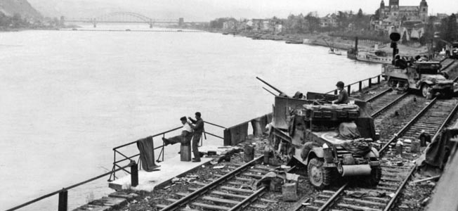 After Adolf Hitler ordered all bridges across the Rhine River blown up to prevent the Allies from crossing into Germany, one span remained intact.