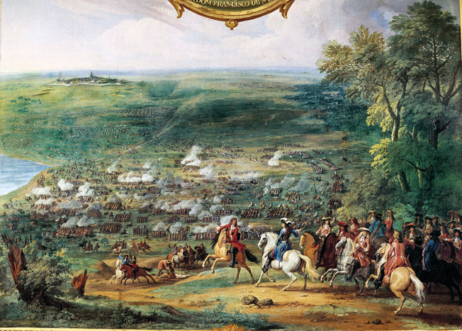 "Battle of Rocroi (1643), fight between the troops led by the Gobernor of Flanders Francisco de Melo and the French army led by the Duke of Enghien. Oil on canvas. Chantilly. Chantilly Castle. ©BeBa/Iberfoto / The Image Works NOTE: The copyright notice must include ""The Image Works"" DO NOT SHORTEN THE NAME OF THE COMPANY"