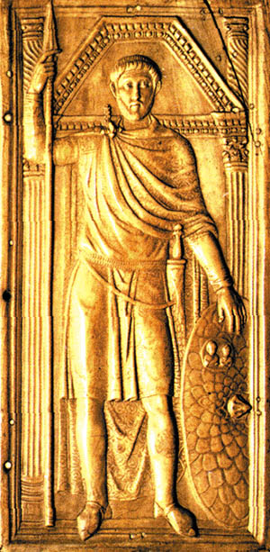 Flavius Stilicho was the supreme commander of the western Roman armies.