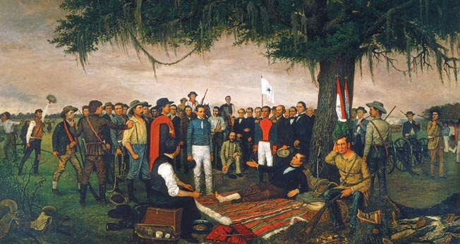 General Santa Anna signed a private agreement after his humiliating defeat at San Jacinto through which he agreed to use his influence to try to get the Mexican government to agree to independence for Mexican Texas.