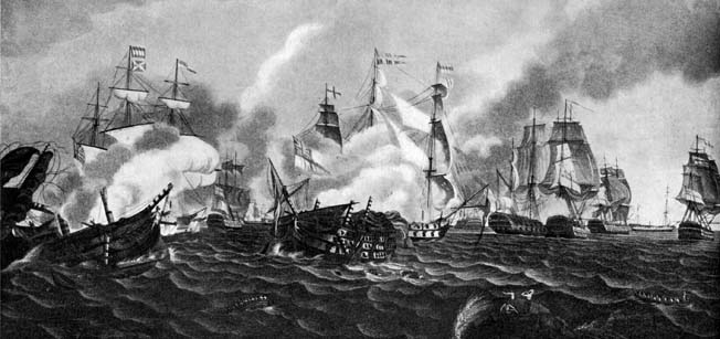 By mid-day on February 6 Admiral Leissegues was down to four ships. Although the British ships had taken some damage, they were in a position to pick off the French one by one.