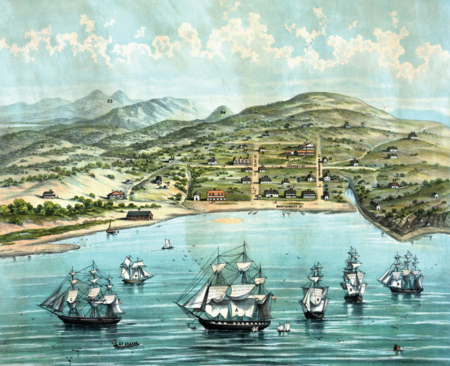 San Francisco was merely a sleepy Mexican port in March 1847.
