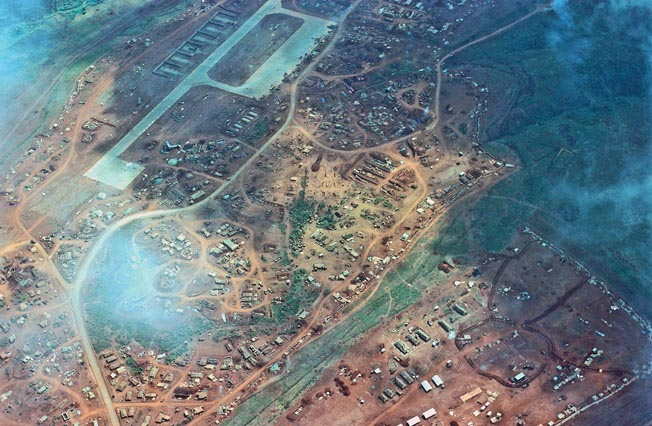 Unable to capture high ground where they could place their artillery to support human wave attacks against the combat base, the North Vietnamese withdrew from Khe Sanh in mid-March 1968.