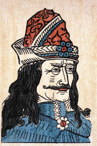 Vlad's legendary cruelty mat have given rise to the Dracula legends. His piercing eyes and long nose give him at least a passing resemblance to the vampire of popular legend.