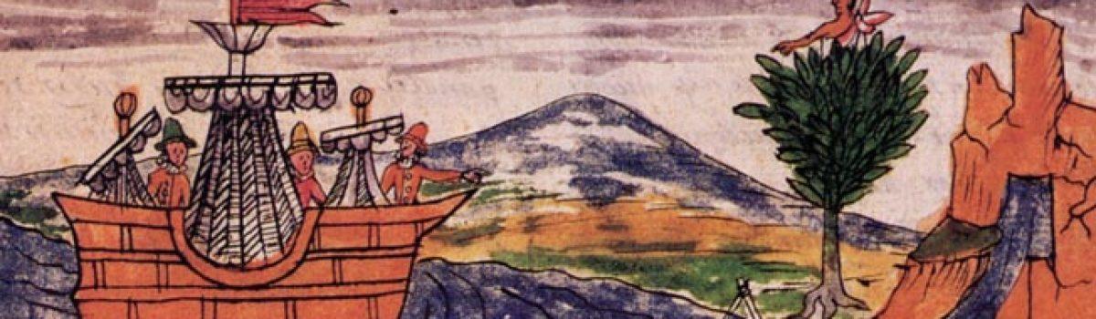 Hernándo Cortés on the plains of Cintla
