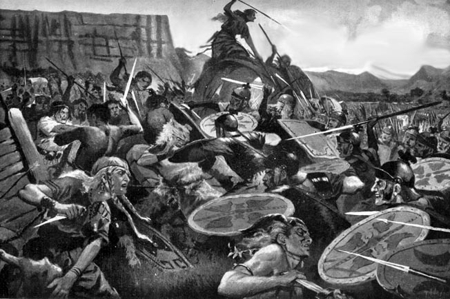 Sulla crushed the rebellious Marians at Rome's Colline Gate in Sulla's Second Civil War. After Marcus Licinius Crassus struck the Marians' flank, Sulla launched a devastating attack that swept the enemy away.