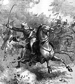 "Hoping to take advantage of British confusion during a critical juncture in the Siege of Savannah in 1779, Pulaski led his mounted troops in a perilous charge that cost him his life. He is known today as ""The Father of the American Cavalry."""