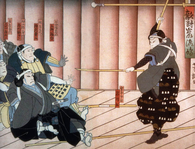 """Samurai warrior Minamoto Mushashi is revered in Japan as a """"Sword Saint"""" for his great skill and ferocity."""