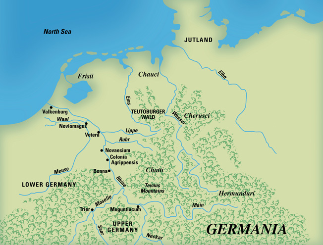 The Roman Empire was pushing east of the Rhine River when disaster struck in the Teutoburger Forest.