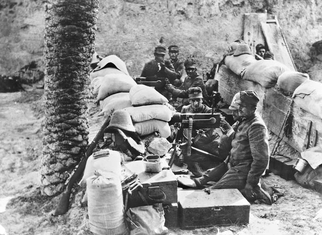 The Italians sought in 1911 to drive the Ottoman Turks from Tripolitana and Cyrenaica.