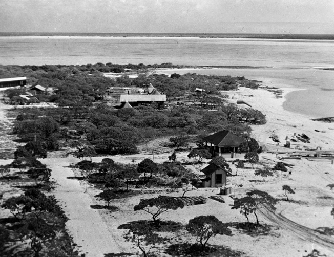A closer view of the island, taken shortly before the Japanese invasion in December 1941.