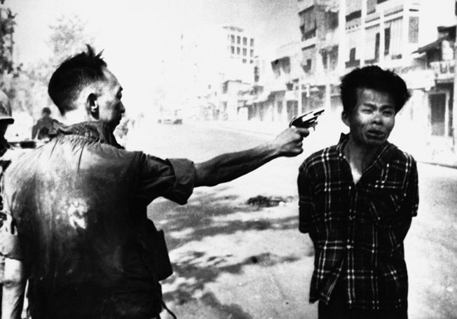 Eddie Adams's Pulitzer Prize winning photograph, depicting the horrifying execution of a Viet Cong officer by Brig. Gen. Nguyen Ngoc Loan during the Tet offensive, helped turn the American public against the Vietnam War.