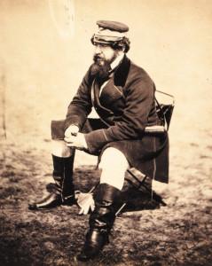 Roger Fenton's photograph of Crimean War correspondent William H. Russel.