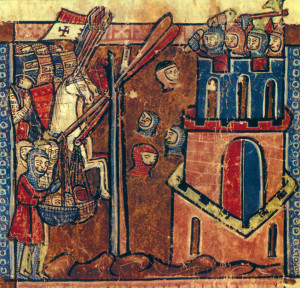 "A 13th century painting depicting the Crusaders at Nicaea demonstrates the unique ""versatility"" of the infamous catapult."