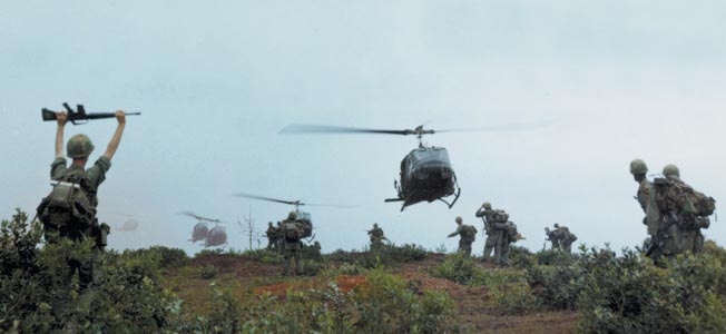 The UH-1 became an icon of the Vietnam War, ferrying troops to and from the Battlefield.