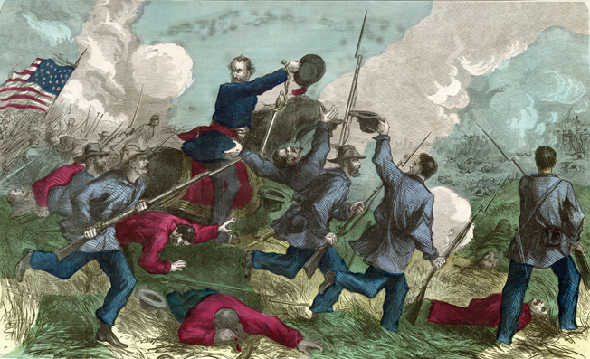 Led by the impetuous General Nathaniel Lyon, Union forces pursued retreating Confederates across southwestern Missouri in the summer of 1861. At Wilson's Creek, Lyon caught up with the enemy on aptly named Bloody Hill.