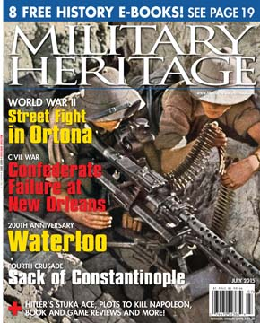 The July 2015 cover of Military Heritage magazine.