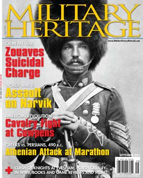 The September 2015 issue of Military Heritage Magazine.