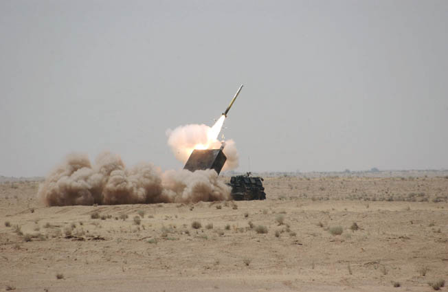 "The Multiple Launch Rocket System, or MLRS, poured down deadly ""Steel Rain"" on Iraqi troops during the first Gulf War."