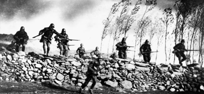 During the Spanish Civil War, Canadian volunteers fought against Franco's Fascists. The Mac Paps saw combat in the heaviest fighting of the war.