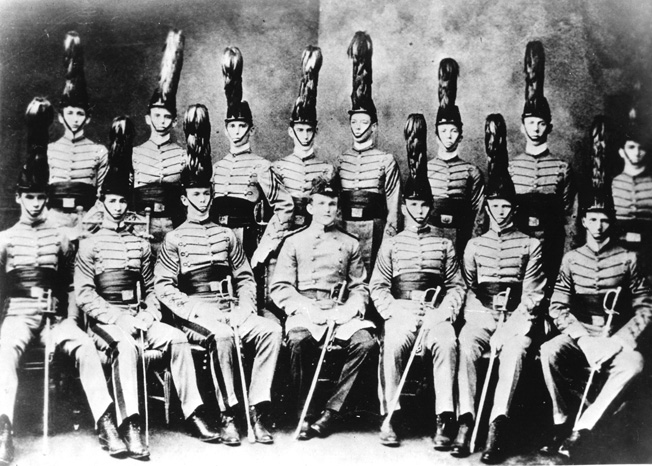 Cadet George C. Marshall, front row, third from left, at Virginia Military Institute in 1901.