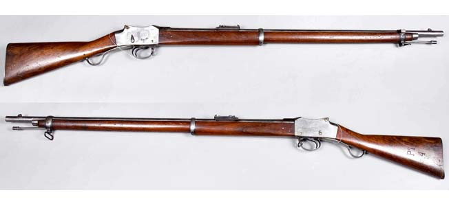 "The versatile Martini-Henry rifle was a mainstay of the British Empire during Queen Victoria's numerous ""little"" wars."