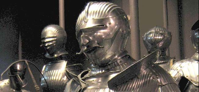 The 15th century was the golden age for medieval knight armor. Warriors would often cover themselves in a suit of arms made of iron plate, enveloping their bodies in a metal coating.