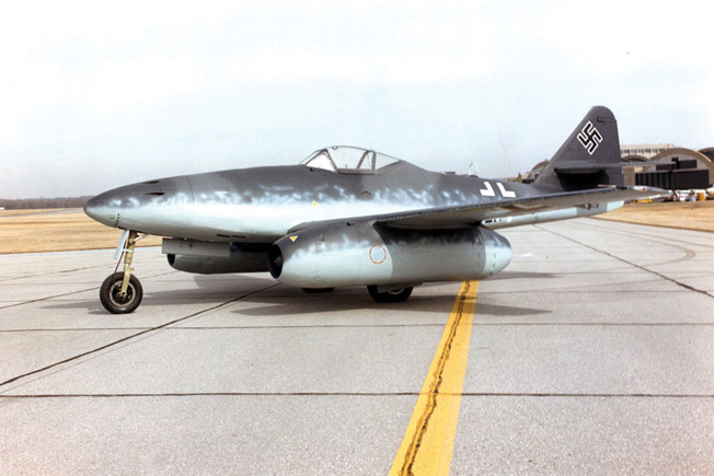 DAYTON, Ohio -- Messerschmitt Me 262A at the National Museum of the United States Air Force. (U.S. Air Force photo)