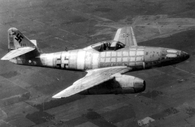 Messerschmitt Me 262 Schwable, the world's first jet fighter. (U.S. Air Force photo)