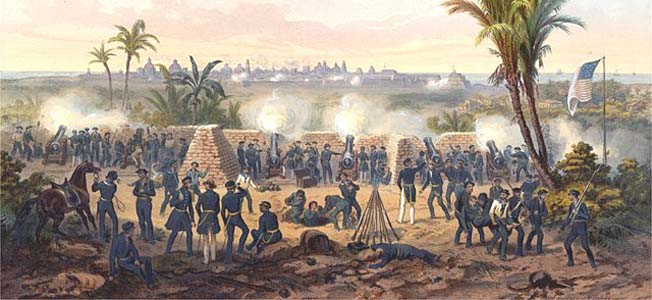 The Mexican-American War eventually forced Mexico to cede the territories of Alta California and New Mexico to the U.S., but not before a year and a half of fighting.