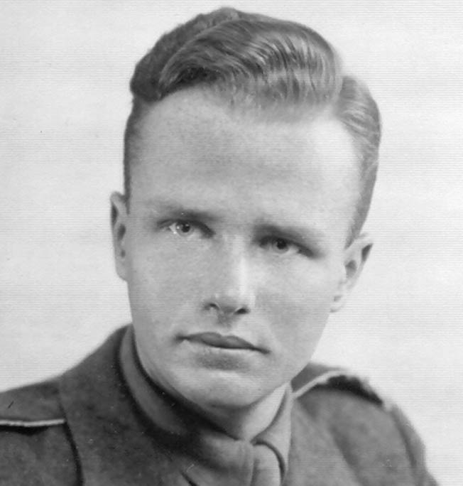 Bogdan Mieczkowski posed in his Polish Army uniform for a photographer in London in 1946.