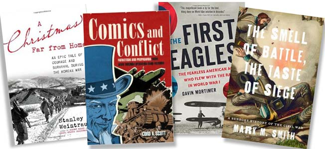 Christopher Miskimon shares with us book releases that cover military comics, Christmas letters from the Korean War, World War I flying aces and more.