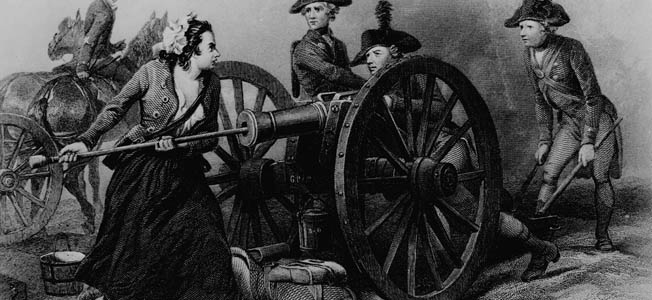 Molly Pitcher was said to have fought at the Battle of Monmouth, but she may have been a persona created from numerous sources.