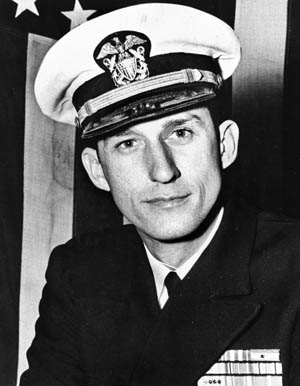 Lieutenant John A. Williamson, executive officer of the USS England, was responsible for the warship's highly successful submarine killing patrol that shattered Japanese early warning in the Pacific in the spring of 1944.