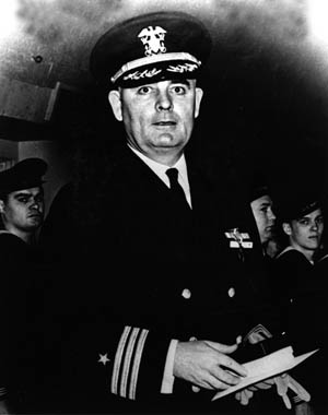 Lieutenant Commander Walton B. Pendleton captain of USS England, allowed the experienced executive officer of the destroyer escort, Lieutenant John A. Williamson, to handle the vessel during attacks on Japanese submarines.