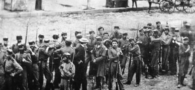 Members of the 7th Regiment, New York Militia, photographed in New York City at the time of the riot.