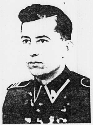 SS I.D. photo of Jakob Reimer, as SS battalion commander who, it is now believed, directed executions during the liquidations of the Jewish ghettos in Warsaw, Lublin, and Czestochowa, Poland.