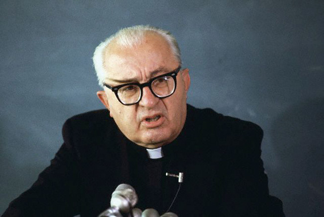 Archbishop Valerian Trifa, a leader of the Romanian fascists. The Justice Department believed Trifa had helped incite a murderous pogrom in Bucharest in 1941.