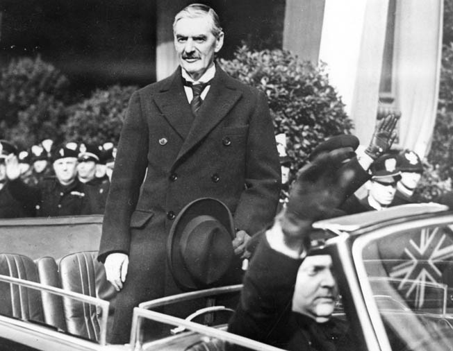 British Prime Minister Neville Chamberlain was the victim of his own naiveté and a profound desire to maintain the peace after the horror of World War I.