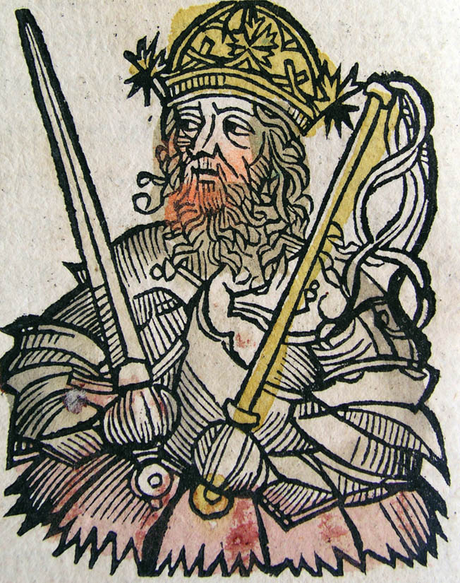 Attila, depicted in a 15th-century Germanic portrait, sought to rule the known world.