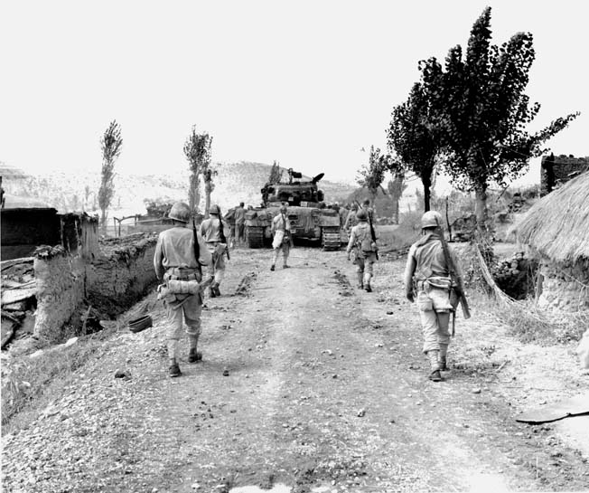 One of the more famous Korean War battles occurred at Obong-Ni, and resulted in a major encounter between the NKPA's T-34 and USMC M-26 Pershing.